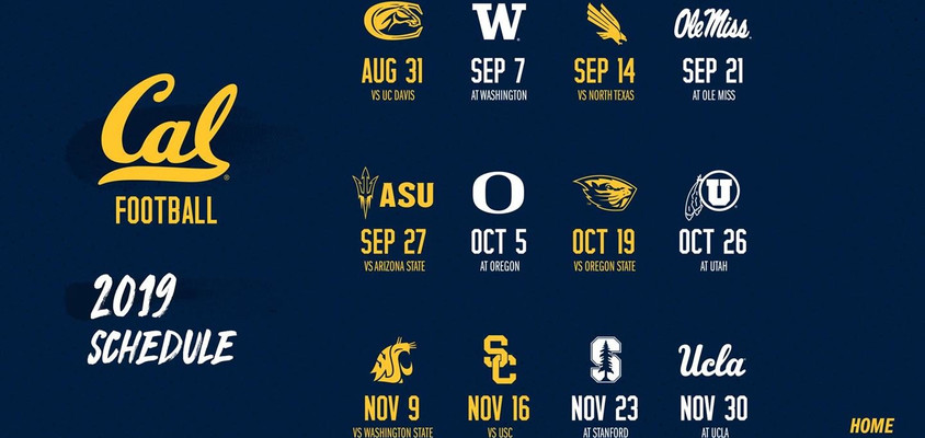 Cal Football 2019 Schedule